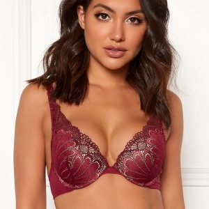 Wonderbra Glamour Triangle Bra Cranberry/Chocolate 85C