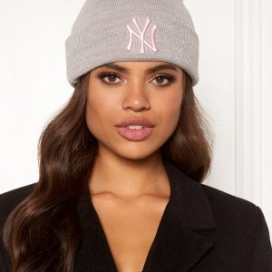 New Era Basic Cuff Knit Heather Grey/Pink One size