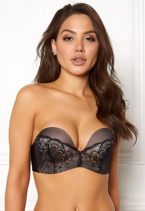 Wonderbra Glamour Perfect Strapless Bra Black 85D