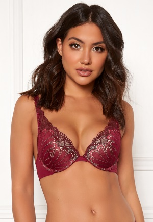 Wonderbra Glamour Triangle Bra Cranberry/Chocolate 70A