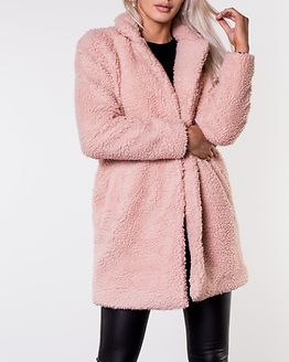 Aurelia Sherpa Coat Rose Smoke