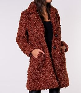 Camilla Shearling Coat Burnt Henna