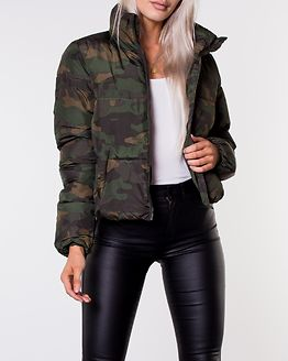 Erica Short Padded Jacket Rifle Green/Camo