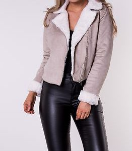 Julia Biker Jacket Beige