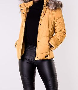Kammi Padded Hood Jacket Harvest Gold
