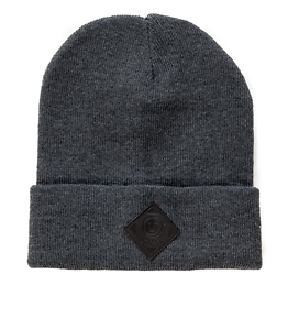 OFFICIAL 2 Fold Beanie Dark Grey/Black