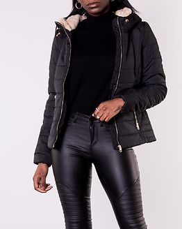 Shelly Hooded Short Jacket Black