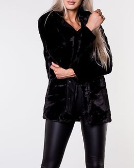 Vida Faux Fur Coat Black