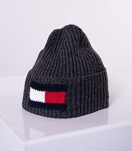 Big Flag Beanie Dark Grey Melange