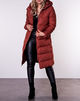 Cammie Long Quilted Coat Burnt Henna