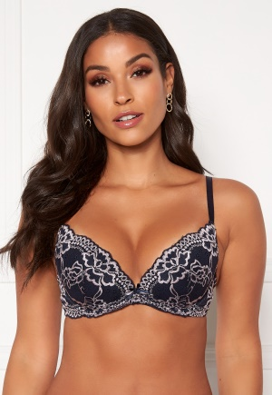 DORINA Lianne 2-Tone Push Up Plunge Bra Q38-Ink 70D
