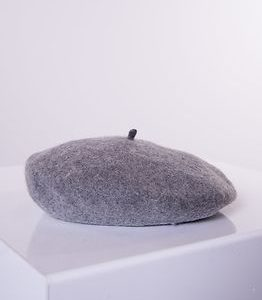 Hatta Wool Beret Light Grey Melange