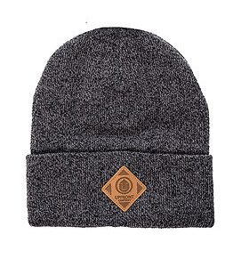 OFFICIAL Upfront Fold Beanie Black/Grey