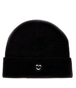Smiley Beanie Black