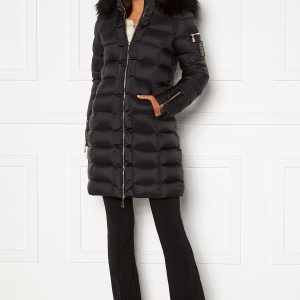 Chiara Forthi Madesimo Long Down Jacket Black 34