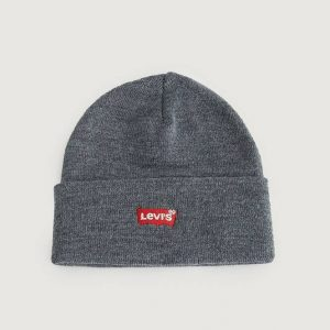 Pipo Red Batwing Embroidered Slouchy Beanie