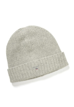 GANT Wool Lined Beanie 94 Light Grey Melang One size