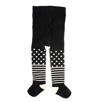 Happy socks Kids Tights Stripe Dots Black * *