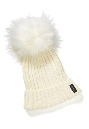 Hollies PomPom Classic Hat White/White One size