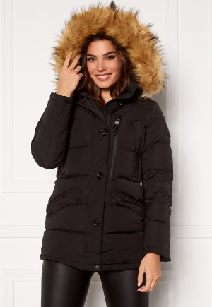 Hollies Wilma Long Jacket Black/Natural 32