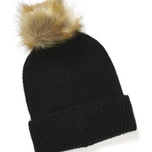 ONLY Simma Knit Pompom Beanie Black One size