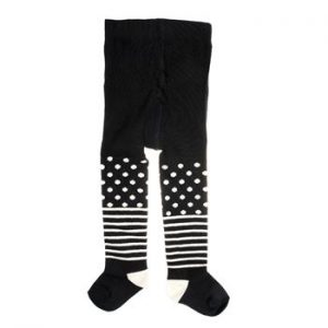 Happy socks Kids Tights Stripe Dots Black * Kampanja *